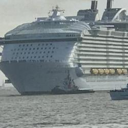 Le Symphony the Seas quitte Saint-Nazaire 24/03/2018