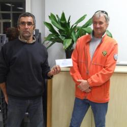 Remise d'un chèque à la SNSM et aux Sapeurs Pompiers